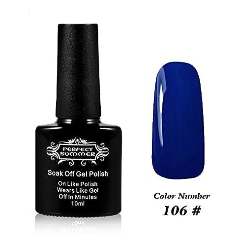 Perfect Summer Shellac GelNagellack UV/ LED 10ml Farben Nagellack Franzoesisch Manikuere Kunst traenken weg #106