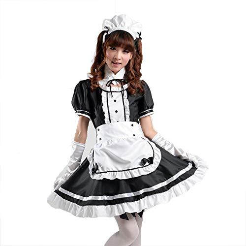 fagginakss Sexy Damen Zimmermädchen Kostüm Zofe French Maid Dienstmädchen Karneval Kleid Nette Frauen Anime Cosplay Französisch Maid Schürze Kostüm (Anime French Maid Kostüm)