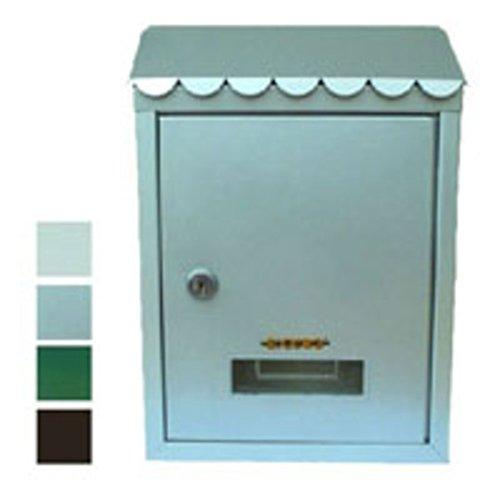 Sûr cdf00250 Boîte à Lettres en métal Verni, Cylindre, 2 clés Type Silca HF 74R, Blanc