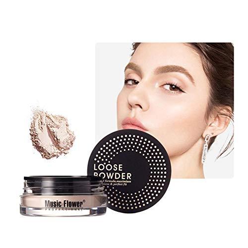 rosemaryrose Set Makeup Loose Powder Ölkontrolle - Wasserdichtes Mattes Puder Skin Finish Powder Brighten Skin Tone