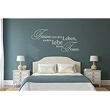 Wandtattoo Sprüche Träume Nicht Dein Leben, Sondern Lebe Deinen Traum Nr 4  Schlafzimmer Wandsprüche Wanddeko