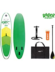 DVSPORT Stand Up Paddle Board Raider White and Green