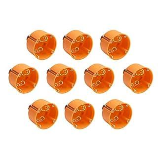 Meister Hohlwanddose Unterputz - 60 mm tief - orange -  10 Stück - Ø 68 mm Fräsloch - Zum Einbau von Schaltern & Steckdosen / Abzweigdose / Schalterdose / Hohlwand-Gerätedose / 7464220