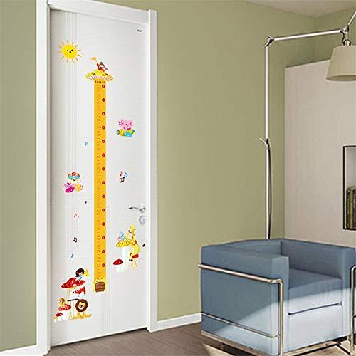 Zxfcczxf Kreative Einfache Pilz Kind Höhe Wandaufkleber Kinderzimmer Schlafzimmer Cartoon Baby Wachstum Chart Gradienten Herrscher Tür Aufkleber (Wachstum Chart Herrscher)