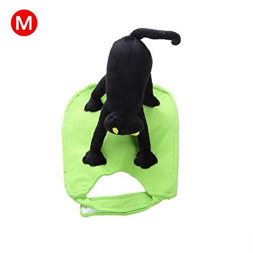 supertop Haustier-Hundekleidung, Weihnachtskleidung Kreatives Halloween-Weihnachtshaustier Custome Lustiger Hundekleidung, Halloween-Reitkatzen-Klage, M