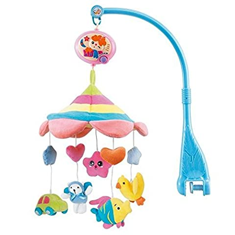 HOSIM® Cot Crib Bell Musical Take along Mobile Soft Cute Plush Rotate Animals with 20 Melodies Music Infant Educational Toy Nursery Decor