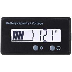 ZChun 12V/24V 36V/48V LCD plomb Lithium Indicateur de capacité de batterie Voltmètre Voltage électrique Scooter Outil de test de batterie