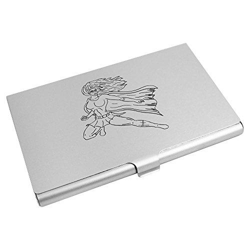 Azeeda 'Weiblicher Superheld' Visitenkartenhalter / Kreditkarte Geldbörse (CH00001336)