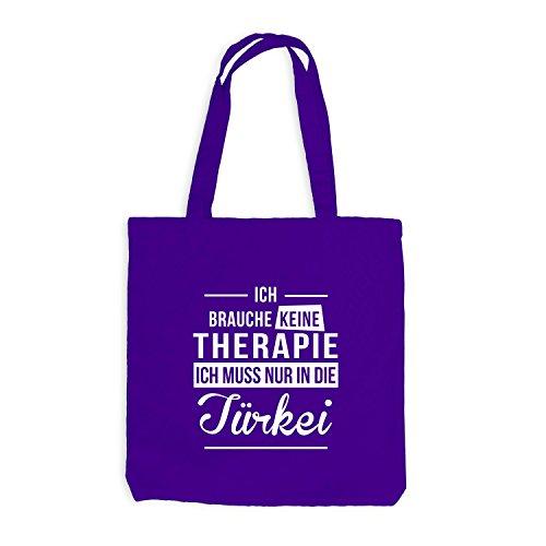 Jutebeutel - Ich Brauche Keine Therapie Türkei - Therapy Urlaub Turkey Violett