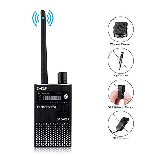 FOONEE Super-Anti-Spion-Signal-Detektor GPS-Signal-Detektor Spy-Bug-Kamera Drahtloser Detektor Spion-Detektor-Gerät GPS-RF-Scanner-Finder GSM-Gerätesuche [Advanced Version] G319
