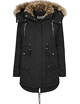 Urban Classics Ladies Imitation Fur, Parka para Mujer