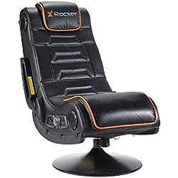 Xrocker 21693 X Rocker Afterburner - Silla para videojuegos con conectividad inalámbrica y audio Bluetooth, color negro