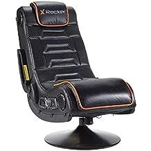Xrocker 21693 X Rocker Afterburner - Silla para videojuegos con conectividad inalámbrica y audio Bluetooth,