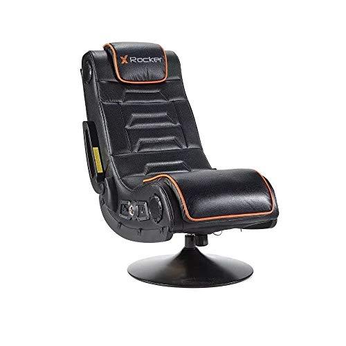 Xrocker 21693 X Rocker Afterburner Gaming-Stuhl mit kabelloser Verbindung und Bluetooth Audio, Schwarz
