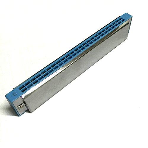Edelstahl Ep-serie (C-Dur-Mundharmonika (24Loch, mit Harter Schutzbox)–blau)