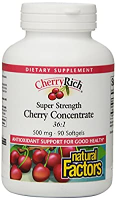 Natural Factors CherryRich (Super Strength Concentrate, 500mg, 90 Softgels) from Natural Factors