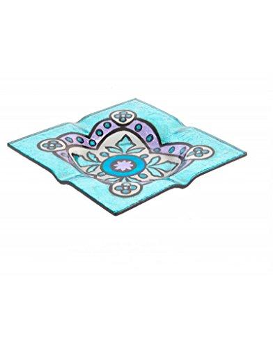 Cenicero de Cristal - Modelo azulejo Floral