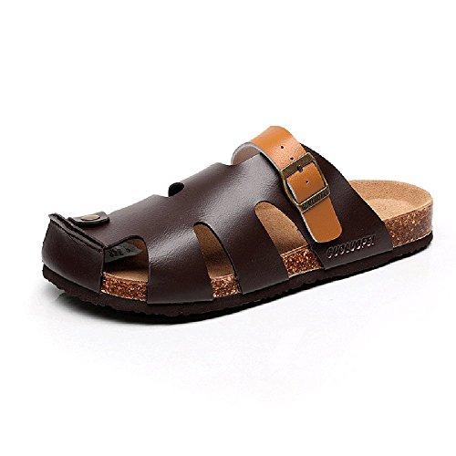 XIA Pantofole da uomo in sughero di grandi dimensioni antiscivolo per il tempo libero sandali da spiaggia scarpe da donna paio di scarpe ( Colore : A , dimensioni : EU36/UK4/CN36 ) A
