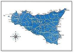 Kühlschrankmagnet, Motiv: Sicily Map
