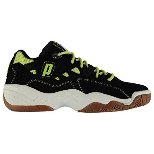 Prince NFS II Court Herren Squash Schuhe Turnschuhe Sportschuhe Hallenschuhe Black/Yellow 7 (41)