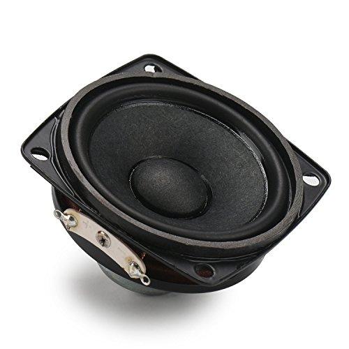 DROK® 2,25-Zoll-10W HiFi Full Range Lautsprecher, 4Ω Startseite Woofer Stereo-Lautsprecher mit 87dB hohe Empfindlichkeit, Wolle Kegel Neodym-Magnet-Lautsprecher geeignet für 2.0 Mini Box / 2.1 Satelliten-Lautsprecher / Sound Column