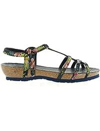 Sandales pour Femme PANAMA JACK DORI TROPICAL B5 VELOUR MARINO