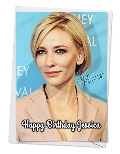 Cate Blanchett 1 - Autogramm-Grußkarte für jeden Anlass (Geburtstag, Weihnachten usw.) - Personalisierung innen und außen erhältlich