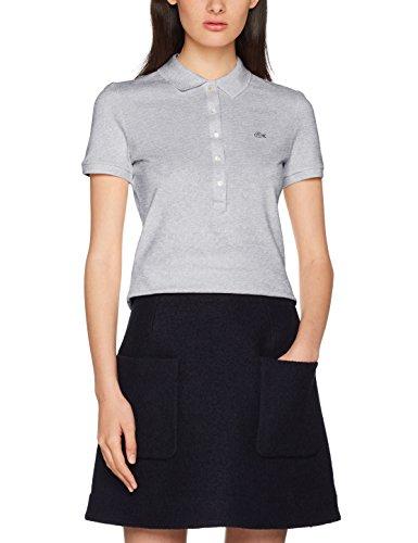 Lacoste Damen Poloshirt Pf7845, Grau (Argent Chine) (Herstellergröße: 42)