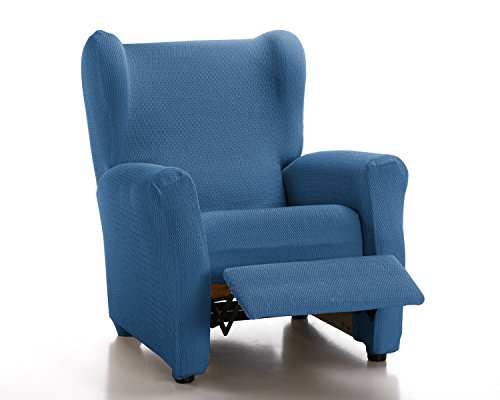 Schutzhülle aus elastischem Sessel Modell Tunez Bezug für Relax-Sessel 32x42x8 cm Blau (AZAFATA)