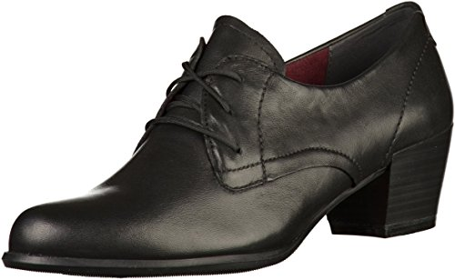 Tamaris 23305, Scarpe Stringate Oxford Donna Nero (Black)