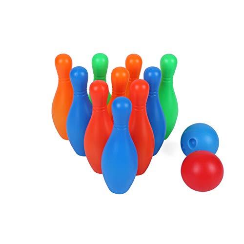 Homiki Tragbare Mini-Miniatur Bowling Spielzeug Leichte Mini Bowling Spielzeug-Set Funny Game-Geschenk für Kinder Kinder 1 Set zufälliger Farbe