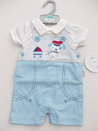 BNWT Baby boy clothes all in one puppy & boat summer ...