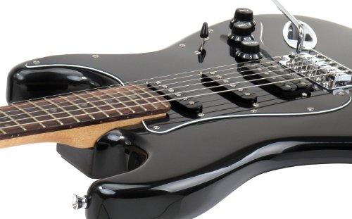 Rocktile Pro ST60-BK - Chitarra elettrica con 1 humbucker, 2 single coil, 22 tasti, tastiera in palissandro, cassa in tiglio, manico in acero