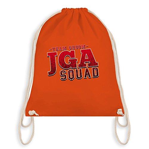 JGA Junggesellenabschied - JGA Squad Team Groom - Turnbeutel I Gym Bag Orange