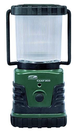 LiteXpress Camp 200 grün/schwarz, Camping-Laterne, 3 Hochleistungs-LED bis zu 300 Lumen, Kunststoffgehäuse, Leistungsangabe nach ANSI-Standard