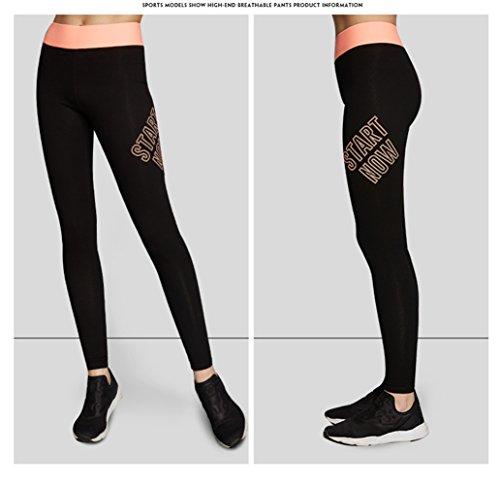 YeeHoo Leggings de compression sportive Stretch pour femme Pantalons amaigrissants Fitness Yoga Rose