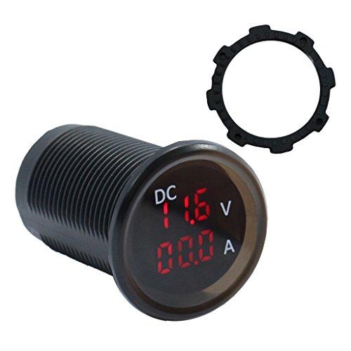 MagiDeal Ampèremètre Voltmètre Testeur Compteur 0-15A 4.5-30 V