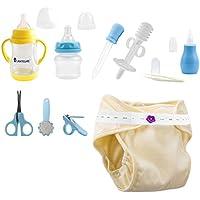Dabixx 4 St/ück Neugeborenen Baby Care Kit Gesundheitswesen Nasensauger Pipette Feeder Pflege Kit Blau