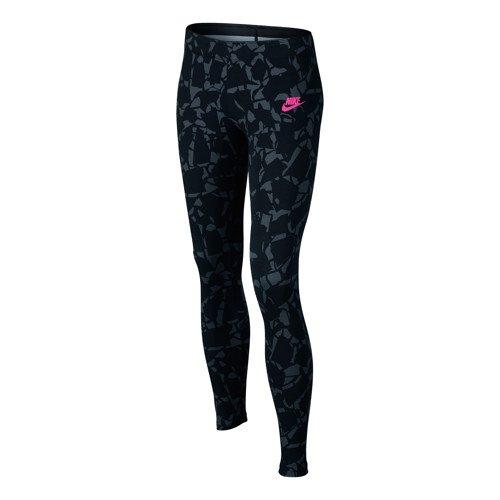 Nike G NSW LGGNG AOP - Leggins Schwarz - XL - Mädchen