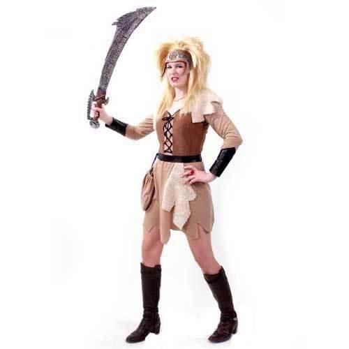 Unbekannt PARTY DISCOUNT ® Damen-Kostüm Barbarin, Kleid und Beutel, Gr. 40 (Barbaren Erwachsene Kostüme)