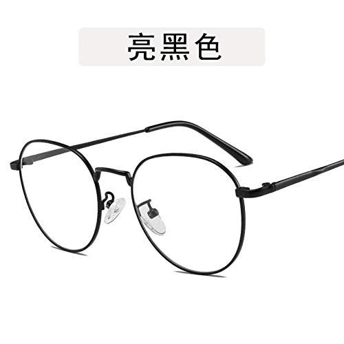 ZYG999 Retro New Designer Woman Brillen Optischer Rahmen Metall Runder Rahmen Brillengestell Klare Linse Brillen Schwarz Silber Gold Brillen