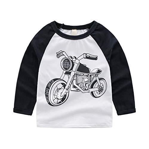 (Mode Kleinkind Baby Jungen Tops Freiraum Kinder Kind Baby Mädchen Jungen Langarm Sweatshirt T Shirts T-stück Freizeitkleidung)