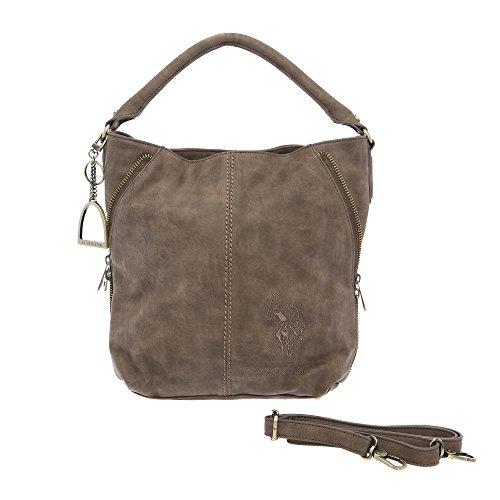 U.S.POLO ASSN. Frau Handtasche Schultertasche - Mod. US15W009-4 Schlamm