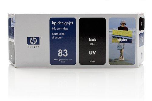HP DesignJet 5500 PS UV 42 Inch - Original HP / C4940A / Nr. 83 / UV - Tinte Black - 680 ml -
