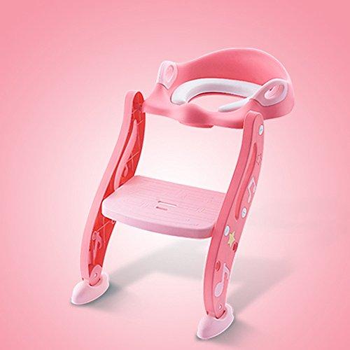 Toilettes pour enfants Potty Formation Étape Ladder Doux Siège De Toilette Rembourré Hauteur Réglable Bébé Toddler Potty Formation Toilettes Ladder Seat Steps Assistant Potty Pour Enfant Toilette Toil