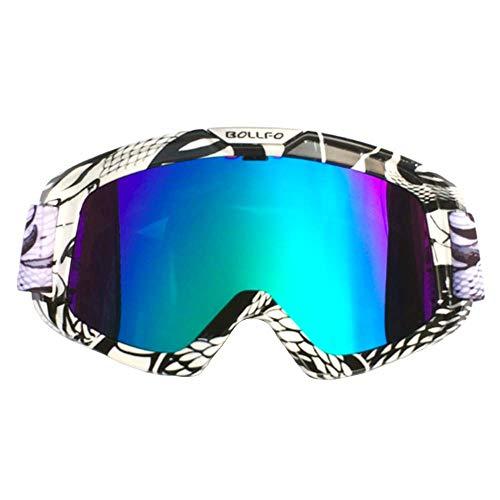 LCCYJ Unisex Motocross Aviator Ski Motorrad Roller Brille Retro Sonnenbrille Helmbrille UV-Strahlen,03 -