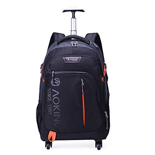 QWERASD Reisetasche Sporttasche für Männer und Frauen Bag Mit Schuhfach Für Gepäck Weekender Travel Gym Trainingstasche Saunatasche,Black -