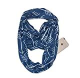 YYXXX Schal,Schal Pocket Scarf Unsichtbarer Reißverschluss Schlanker minimalistischer Reise-tragbarer warmer Schal, Farbe 8,50 * 180Cm