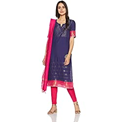 Aurelia Women's Straight Salwar Suit (16AUD10479-78351_Purple_Large)