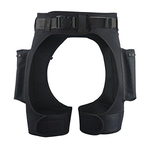 LayaTone Neoprenanzug Shorts für Männer Premium Neopren Schwarz Tech Pants 3mm mit Taschen Tauchshorts - Neoprenanzüge Shorts zum Tauchen Schnorcheln - Surfen Shorts für Frauen Surfen Tauchen